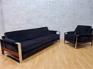 Mid Century Modern Adrian Pearsall Flat Bar Sofa and