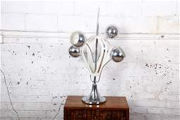 Authentic Torino Style MidCentury Modern Chrome and