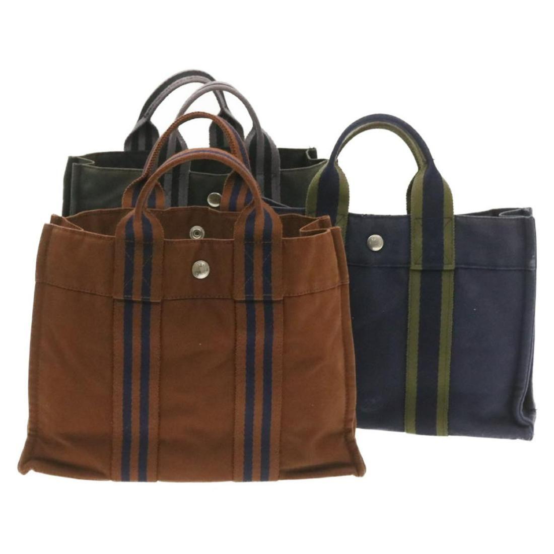Authentic HERMES Cotton Hand Bag
