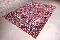Vintage HandKnotted Persian Heriz Rug  Circa 1940s