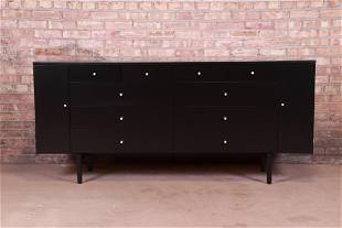 Paul McCobb Planner Group Black Lacquered 20-Drawer