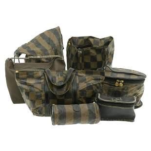 Authentic FENDI PVC Leather Hand Bag / Pouch