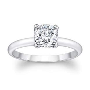 Cushion Solitaire Engagement Ring In Platinum 1.20ct
