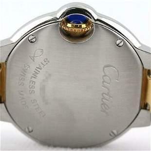 Authentic Cartier Baron Blue SM W69007Z3 Ladies Qz