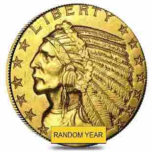 $5 Gold Half Eagle Indian Head - Ex Jewelry (Random