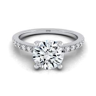 Round Center Classic Petite Split Prong Diamond