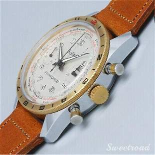 Authentic Gallet Flying Officer 1970s World Time Manual
