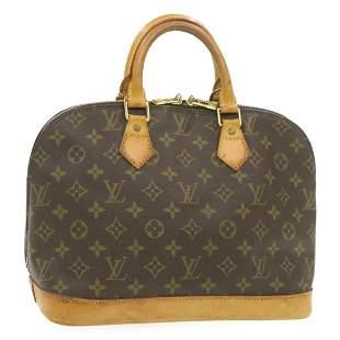 Authentic LOUIS VUITTON ALMA Monogram Canvas Hand Bag