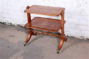 Baker Furniture Georgian Banded Mahogany Two-Tier Side