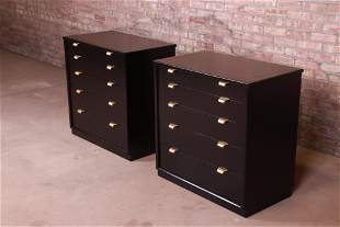 Edward Wormley for Drexel Precedent Black Lacquered
