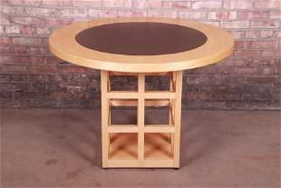 Geiger-Brickel Maple and Inset Leather Modern Dining or