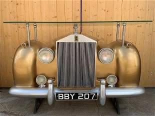 Yab Design Full Size Rolls Royce Car Bar with Head