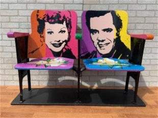 Vintage Retro Hand Painted Andy Warhol Style Theater