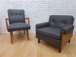 Danish Modern Jens Risom Style Lounge Chairs Newly