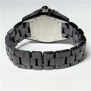 Authentic CHANEL J12 Untitled H5581 Men's Ceramic Black
