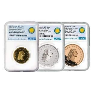 1794-2019 Smithsonian America's First Silver Dollar