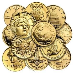 US Mint Gold $5 Commemorative Coins BU/Proof (Random
