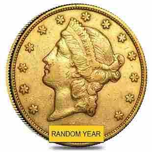 $20 Gold Double Eagle Liberty Head - Extra Fine XF