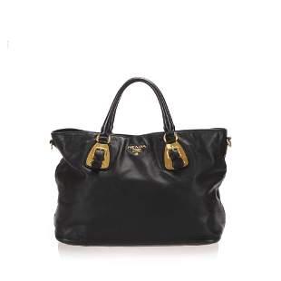 Authentic Prada Leather Satchel