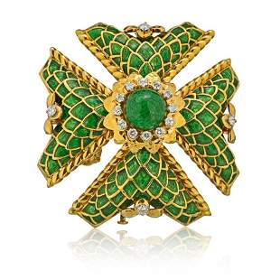 Authentic  David Webb  David Webb Maltese Cross 18K