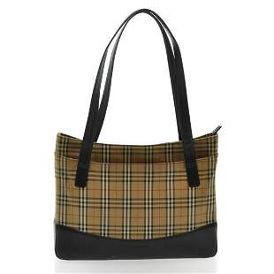 Authentic BURBERRY TOTE Canvas Tote Bag