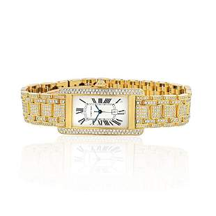 Authentic  Cartier  Cartier Tank American 18K Yellow