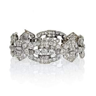 1920's Platinum Old Cut Vintage Diamond Bracelet