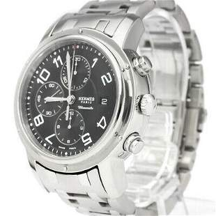 Authentic Hermes Clipper Chronograph CP1.910 Stainless