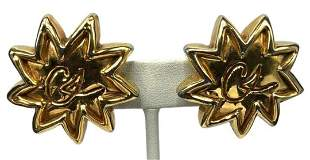 Authentic Vintage Christian Lacroix Gold Starburst