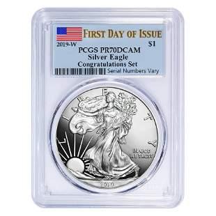 2019-W 1 oz Proof Silver American Eagle Congratulations