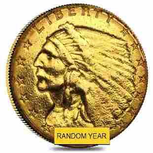 $2.5 Gold Quarter Eagle Indian Head - Ex Jewelry