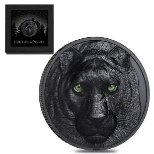 2020 2 oz Silver Hunters by Night - Black Panther Palau