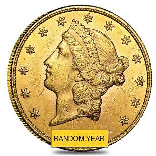 $20 Gold Double Eagle Liberty Head - Almost