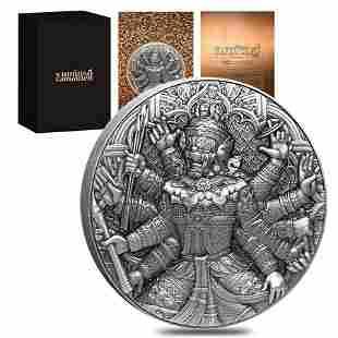2020 Chad 2 oz Silver Tossakan - Ramakien Series 1.9