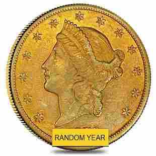 $20 Gold Double Eagle Liberty Head - Very Fine VF