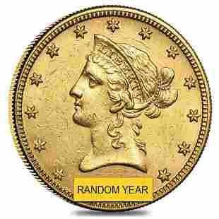 $10 Gold Eagle Liberty Head - Almost Uncirculated AU