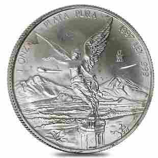 1997 1 oz Silver Mexican Libertad (Scruffy)