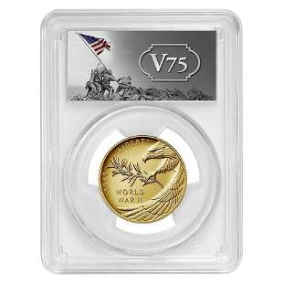 2020-W 1/2 oz End of WWII 75th Anniv $25 Proof Gold