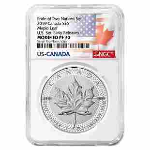 2019 1 oz Modified Proof Silver Canadian Maple NGC PF