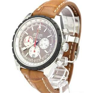Authentic Breitling Chronomatic 49 Leather self-winding
