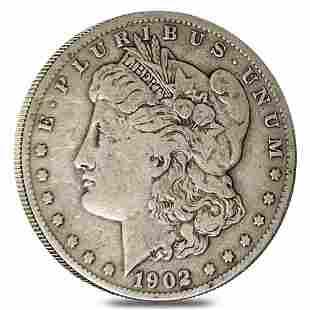 1902-S Morgan Silver Dollar $1 Fine