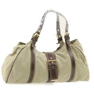Authentic FENDI Canvas Shoulder Bag