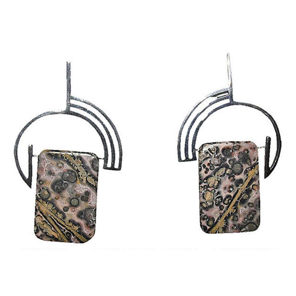 Modernist Leopardskin Jasper Earrings