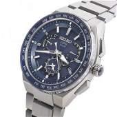 Authentic SEIKO Astron SBXB155 Men's Blue dial solar
