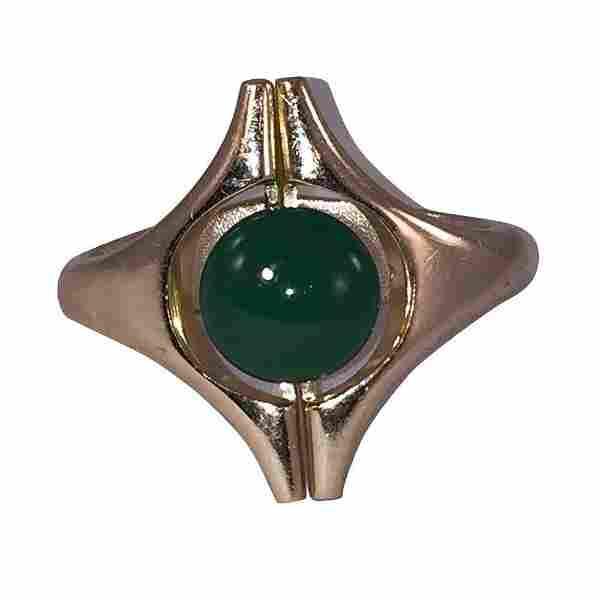 Lanvin Modernist Inspired Green Bakelite Button