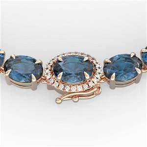 45.25 ctw London Blue Topaz & VS/SI Diamond Micro