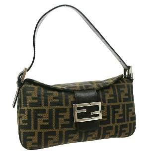 Authentic FENDI  Zucca Handbag