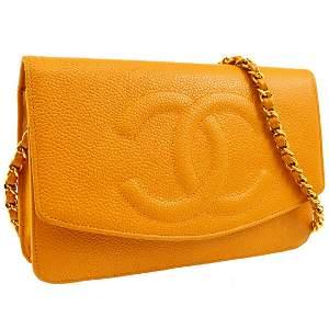 Authentic CHANEL  Chain Shoulder Wallet Bag