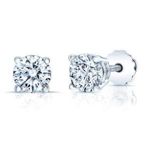 Diamond Studs 4/5ct In 14k White Gold Earring