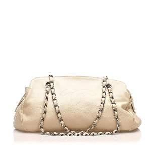 Authentic Chanel CC Leather Shoulder Bag